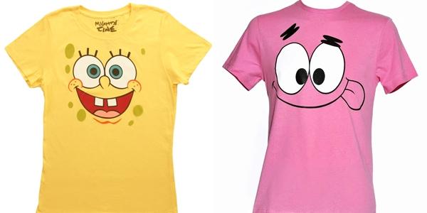 T-shirt Bob Sponja e Patrick