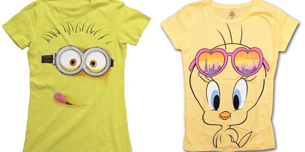 T-shirt Minion e Piu-Piu